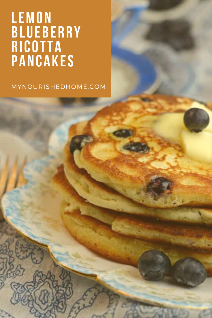 How to make blueberry ricotta pancakes