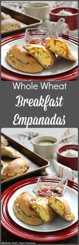 Whole Wheat Breakfast Empanadas from Whole Food | Real Families are a great make-ahead meal for busy mornings or perfect slow food for weekend breakfast. Get the recipe at www.wholefoodrealfamilies.com.