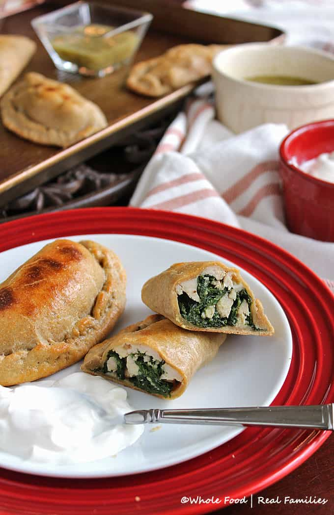 Whole Wheat Chicken and Kale Empanadas