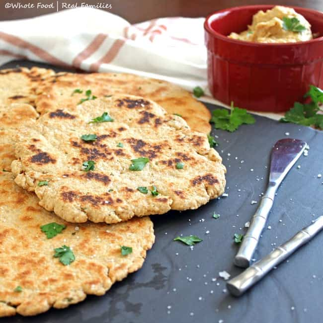healthy quick flat bread