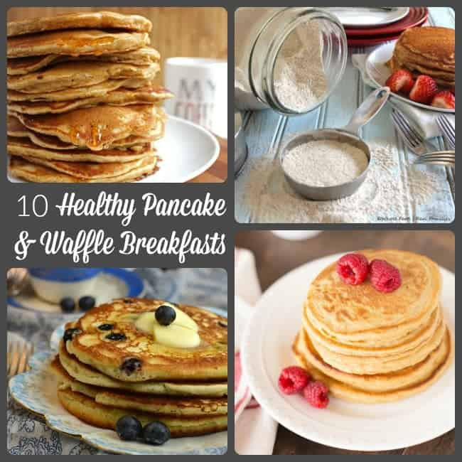 10 Healthy Pancake and Waffle Breakfasts plus a Homemade Mix