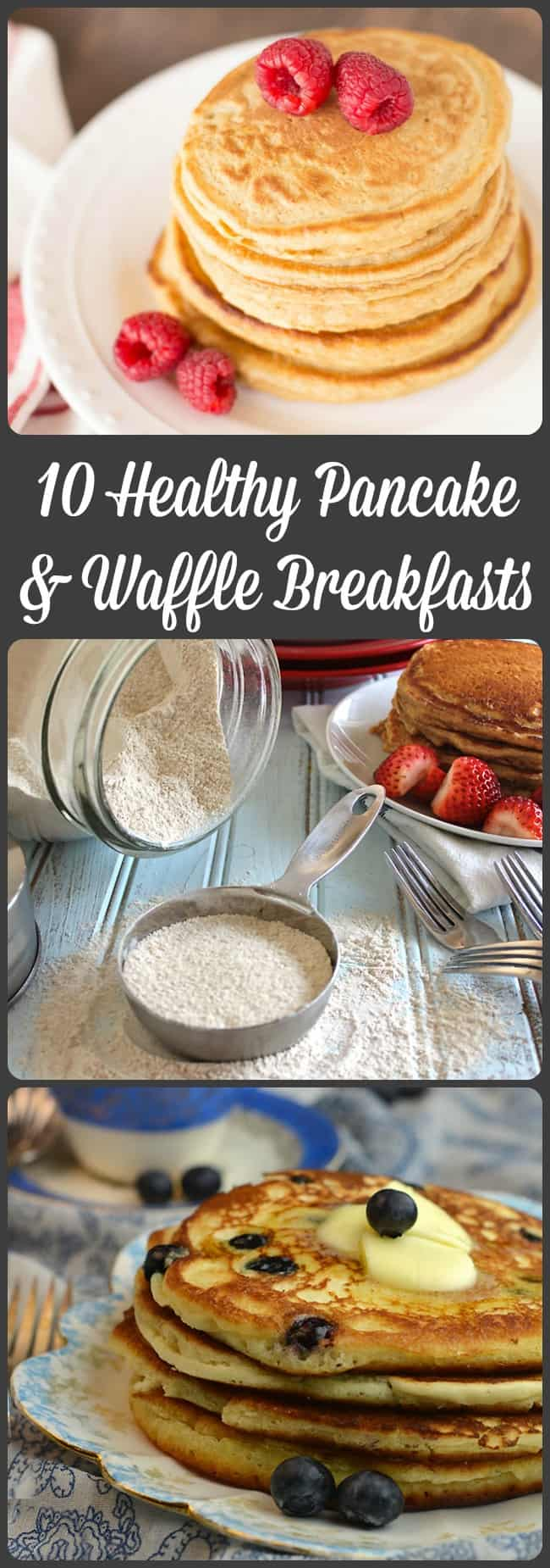 10 Healthy Pancake and Waffle Breakfasts