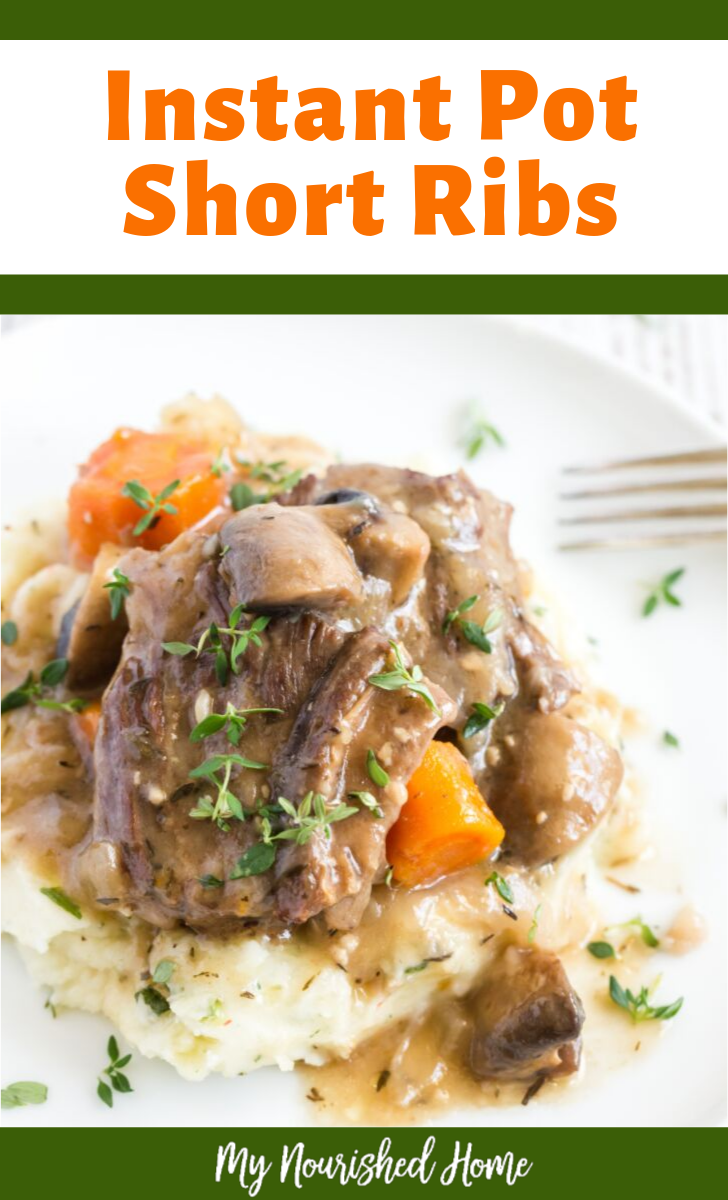 Beef Short Ribs in the pressure cooker