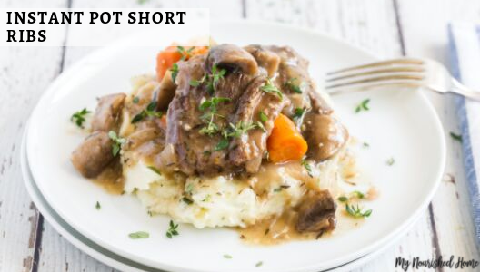 Instant Pot Short Ribs with mushroom gravy