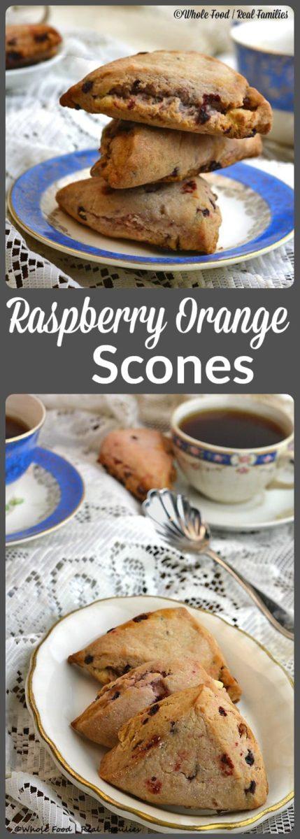 Raspberry Orange Scones