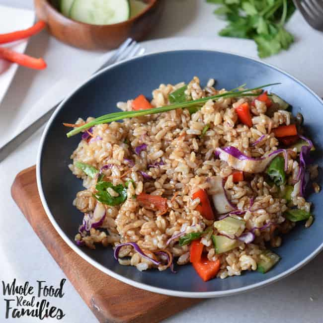 Brown Rice Stir Fry from Whole Food | Real Families