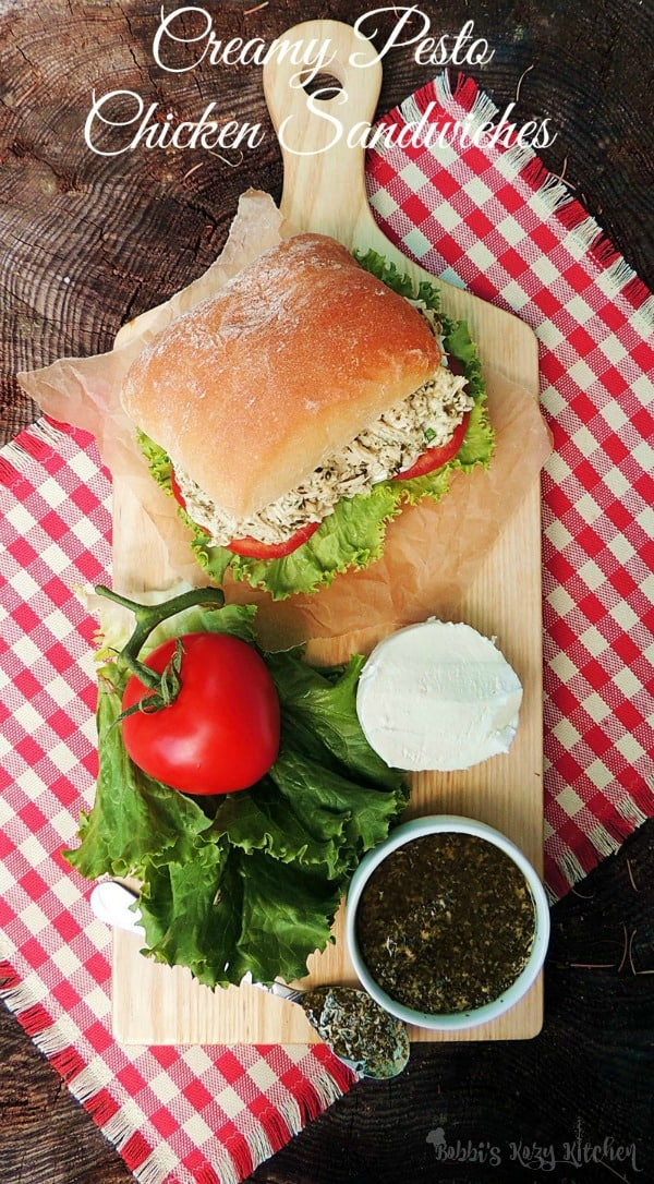 National Picnic Month - Creamy Pesto Chicken Sandwich Roundup