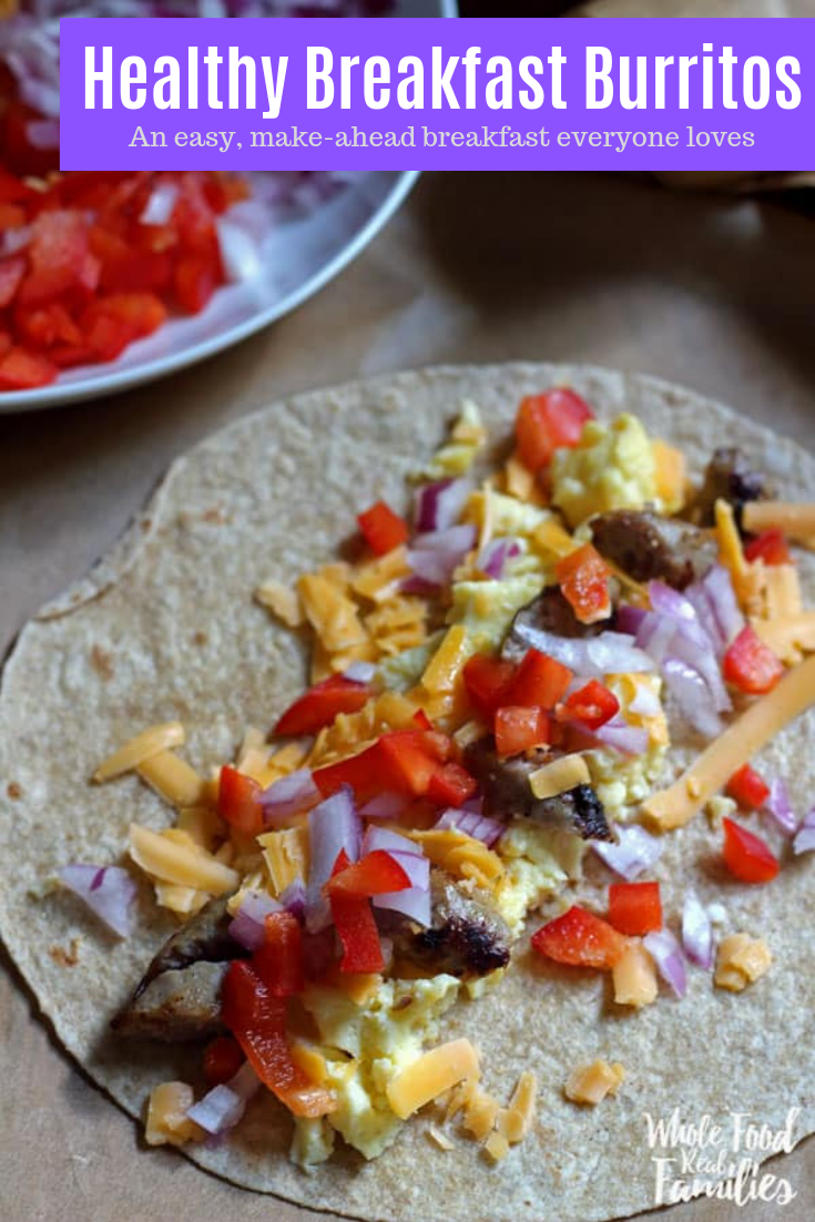 Recipe for Healthy Breakfast Burritos