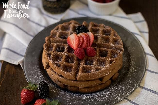 Healthy Chocolate Waffles