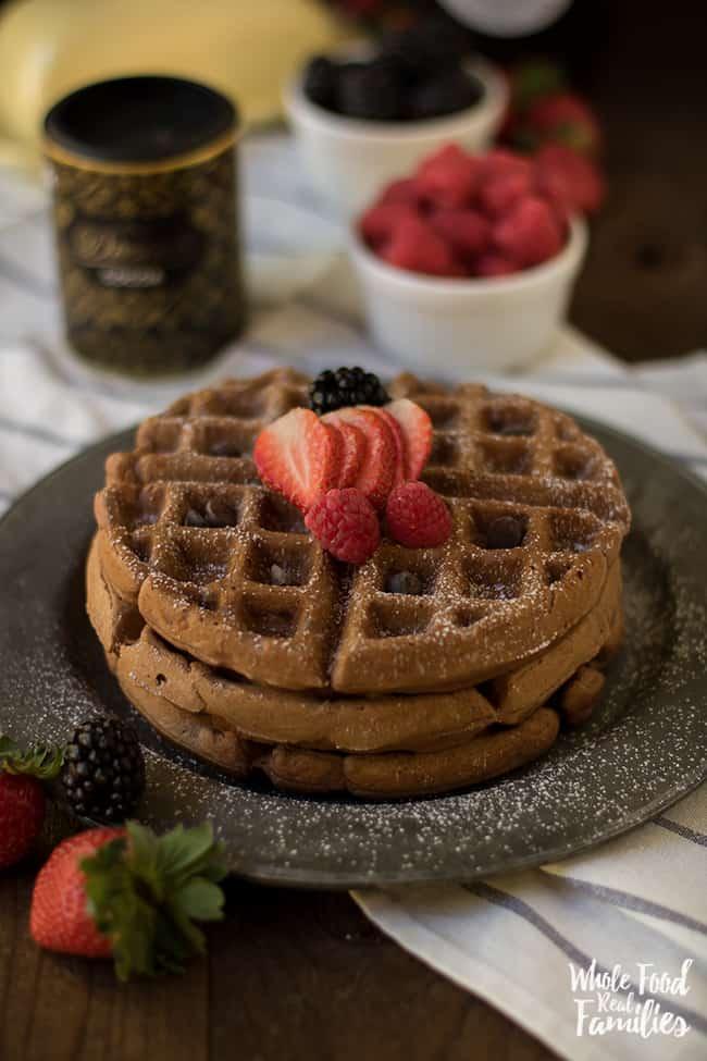 Healthy Chocolate Waffle Recipe