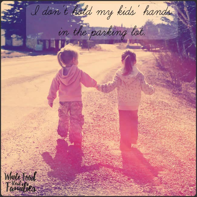 I don't hold my kids hands in the parking lot. This is why. @wholefoodrealfa