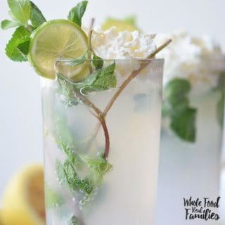 Make it a Mocktail or a Cocktail, but make this Mojito Float and then go find the nearest shade and cool yourself off!