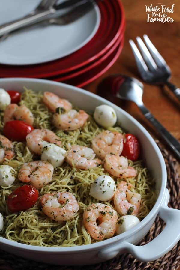 Easy Shrimp Pasta Caprese