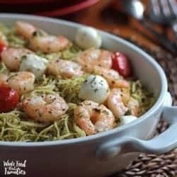 Easy Shrimp Pasta Caprese
