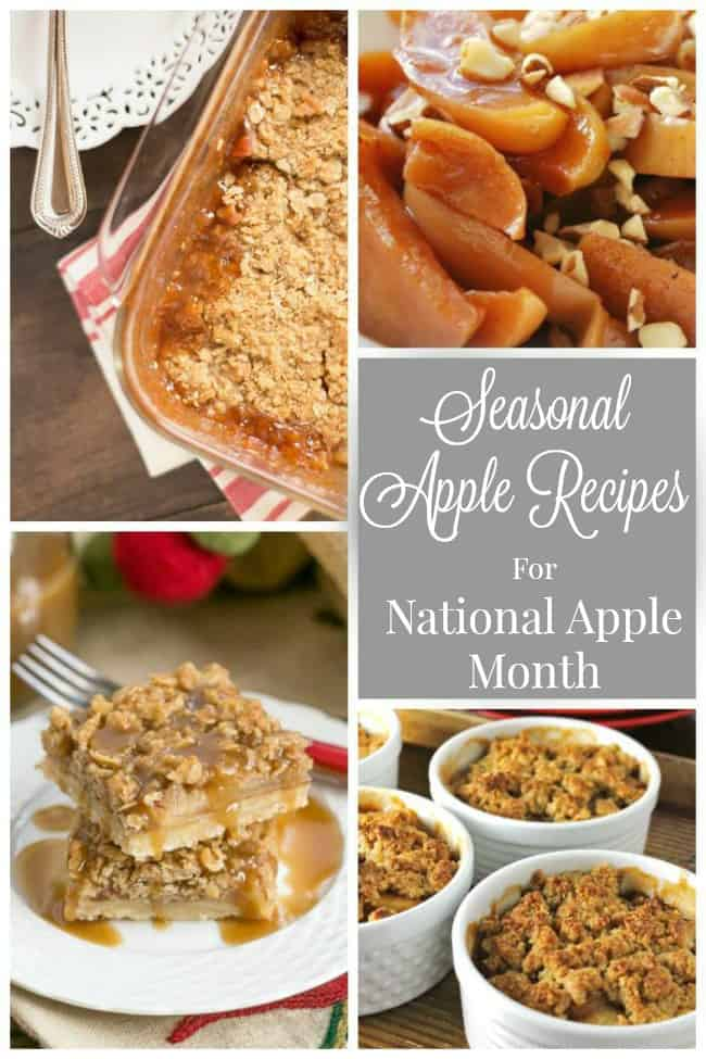 Seasonal Apple Recipes for National Apple Month @wholefoodrealfa