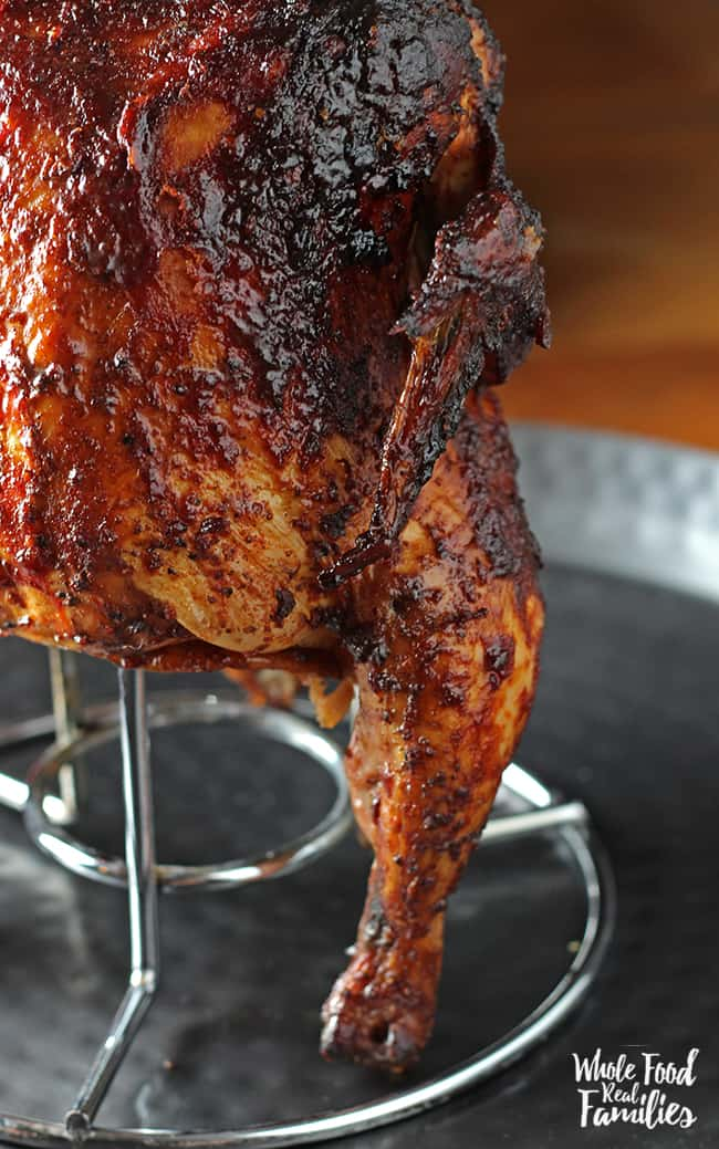 Barbecue Beer Can Chicken Recipe for the grill or smoker