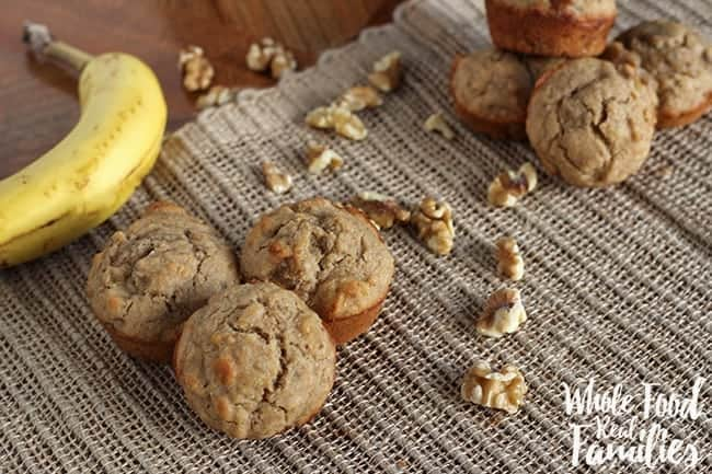 Banana Nut Muffins for a healthy breakfast
