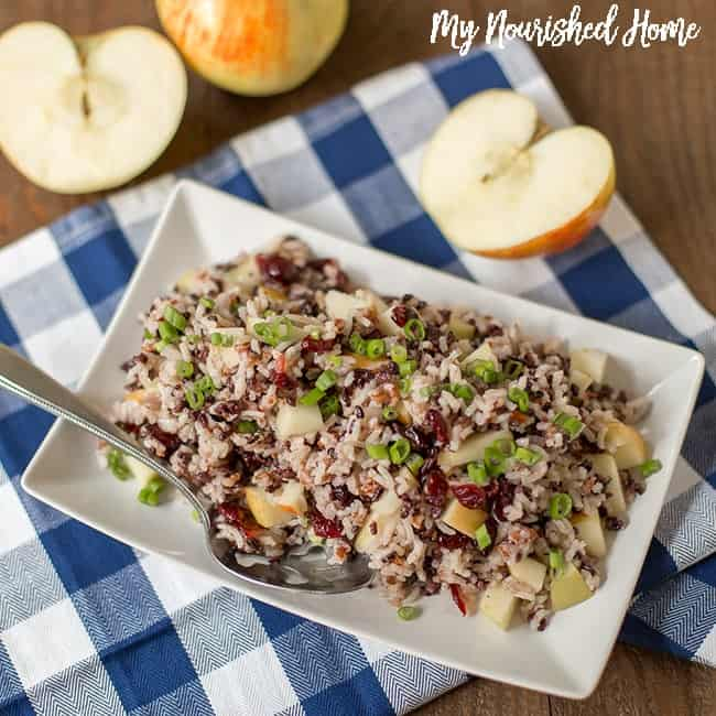 Apple Cranberry Rice Pilaf