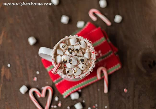 The most decadent Peppermint Hot Chocolate ever