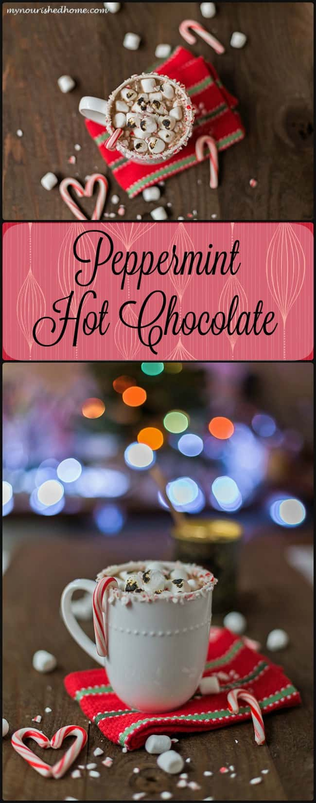 This is the most Decadent Hot Chocolate that Santa (and my kids) ever had! It hangs out around our house as long as there are candy canes for the holiday!