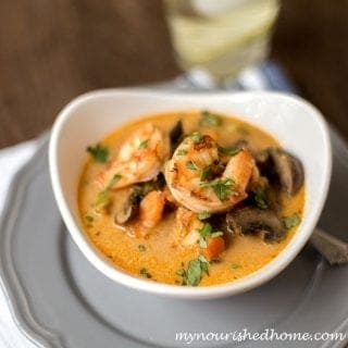 Shrimp and Vegetable Coconut Curry Soup