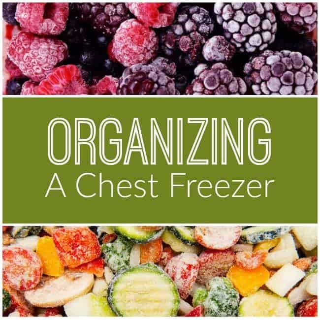 Organzing your Chest freezer
