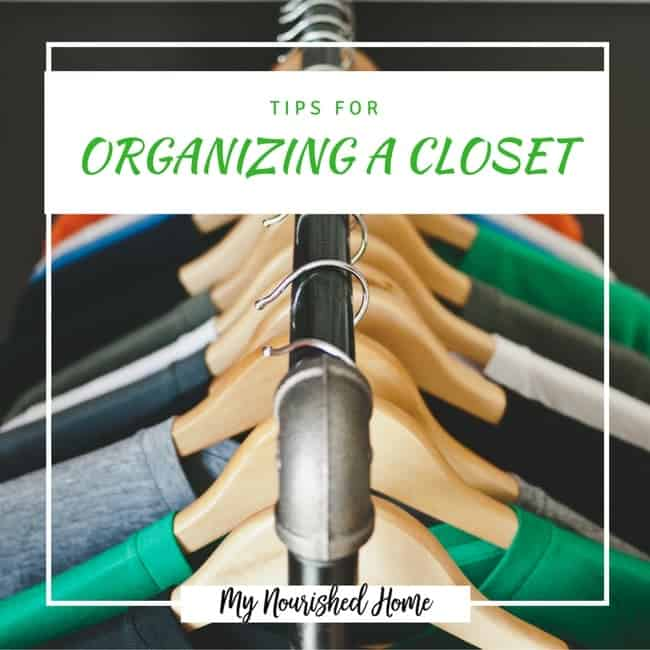 Tips for Organizing that Closet