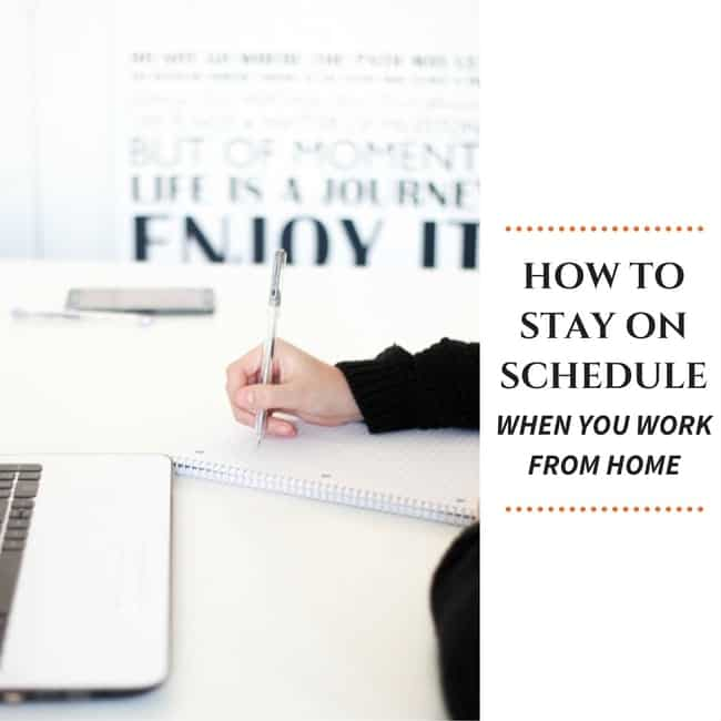 How to schedule when you work from home