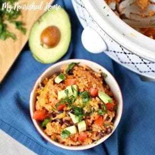 Slow Cooker Mexican Rice and Beans