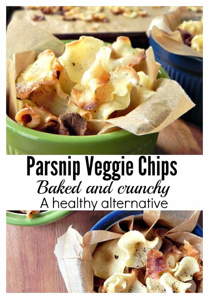 Parsnip Veggie Chips, a healthy alternative for snacking