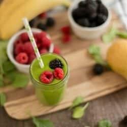 Green Mango Banana Smoothie