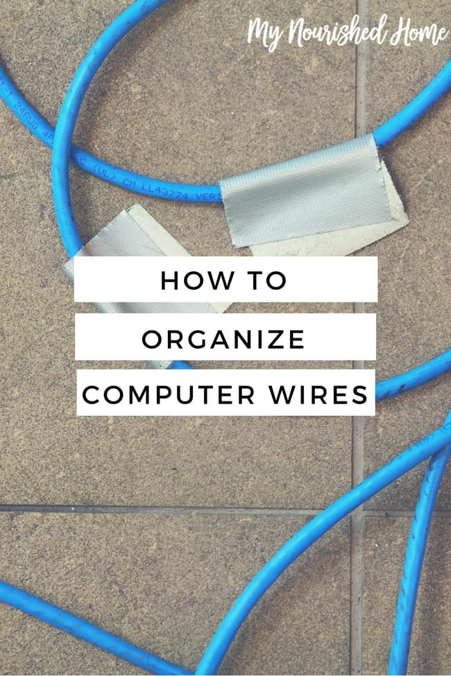 How to Organize Computer Wires