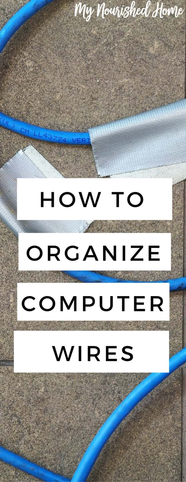 Organzing Computer wires around your desk