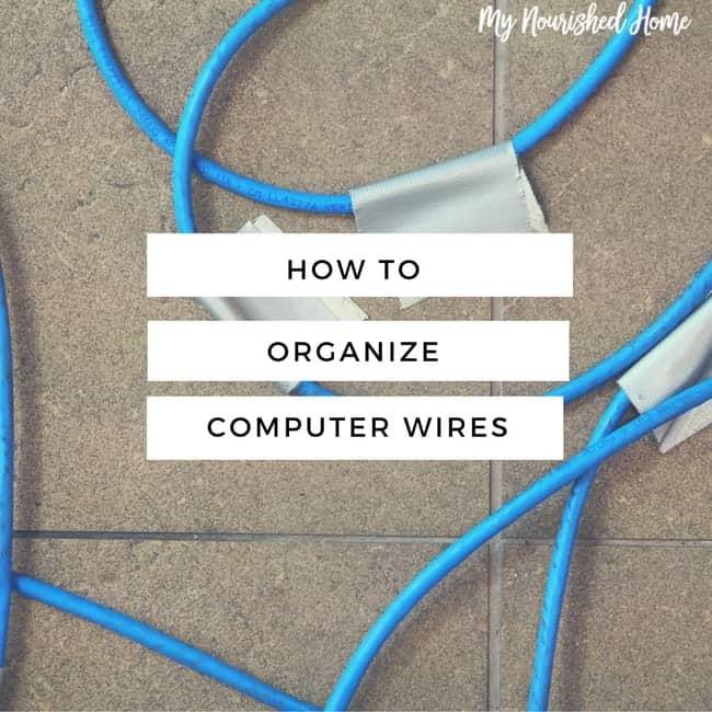 Organize computer wires