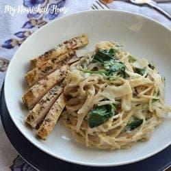 Spinach and Fontina Spaghetti