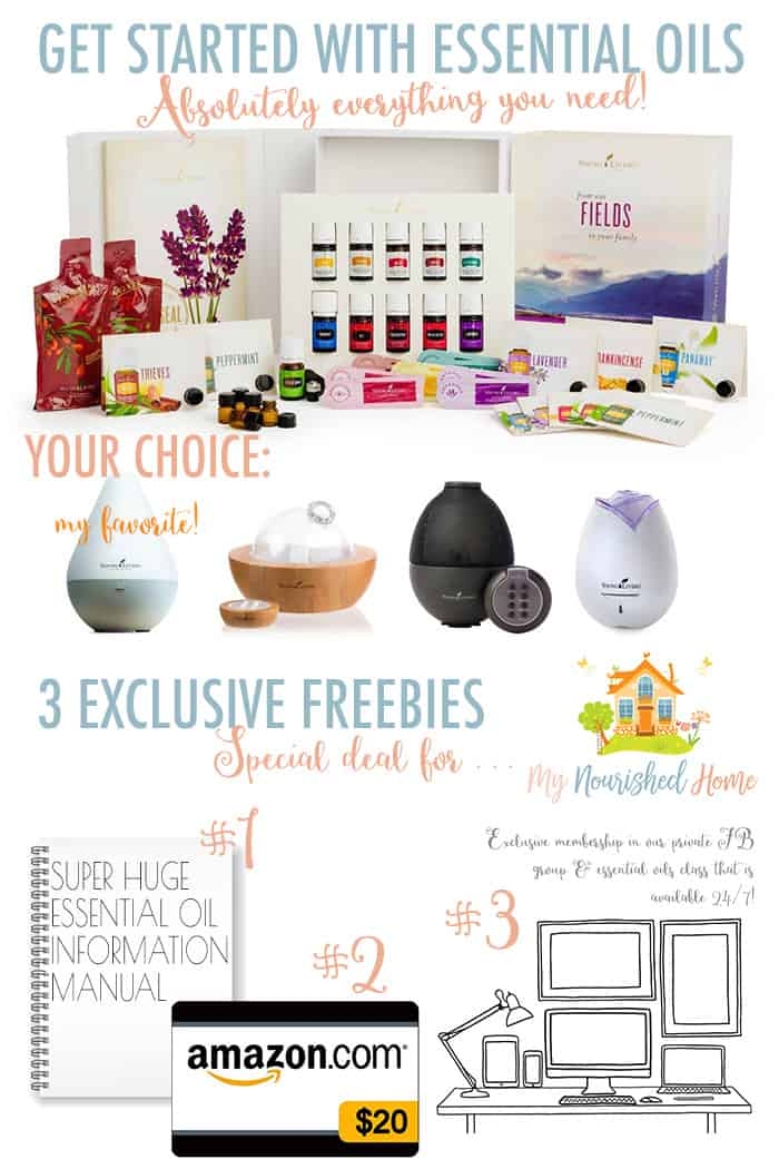 Young Living Essential Oils from My Nourished Home