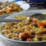 30 Minute Vegetable Lentil Stew