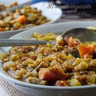 30 Minute Vegetable Lentil Stew