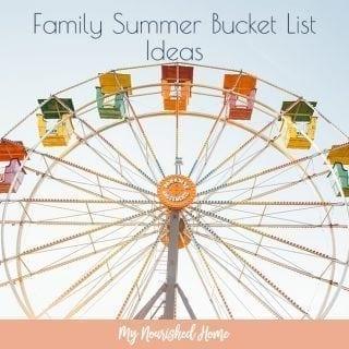 Summer Family Bucket List Ideas