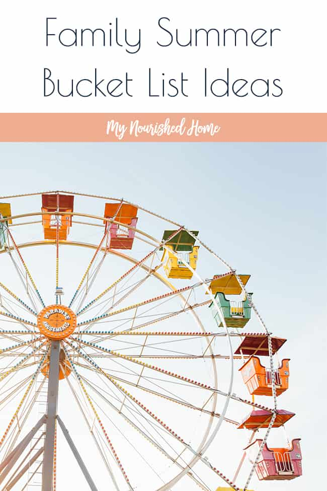 Family Summer Bucket List - Grab the Printable for ideas on your own family bucket list!