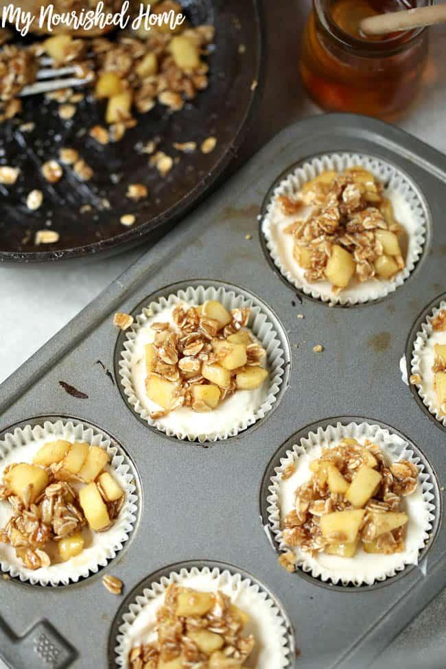 Apple Crisp Cheesecake Bite Recipe