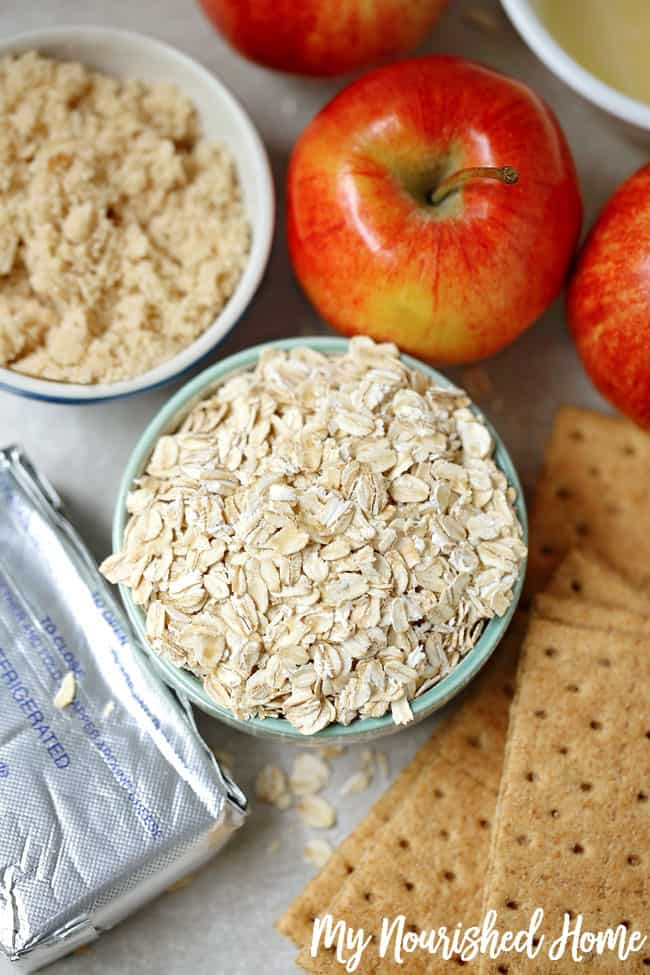 Apple Crisp Cheesecake Bites Ingredients