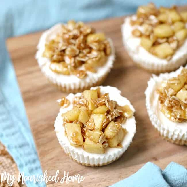 Apple Crisp Cheesecake Bites Recipe