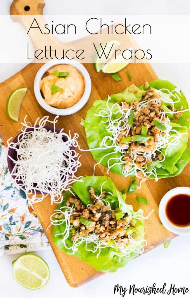 Asian Chicken Lettuce Wrap Recipe