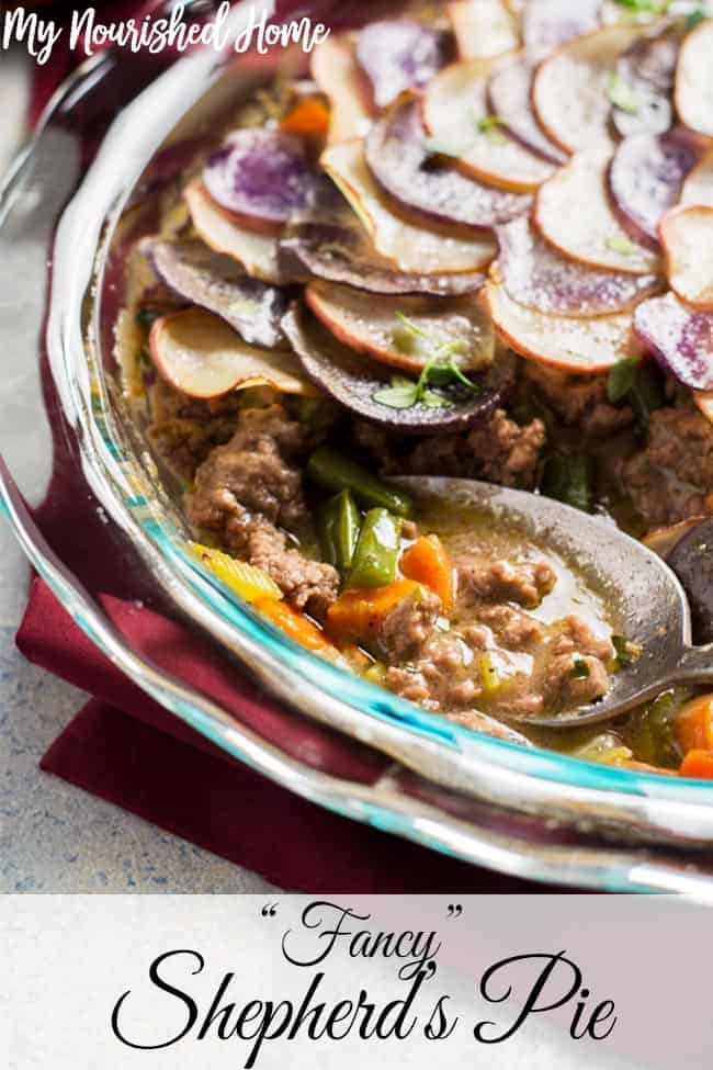 Shepherd's Pie is one of the most hearty, comforting meals around. This Fancy Shepherd's Pie gets an upgrade that will make you proud to serve it to even your pickiest dinner guest.
