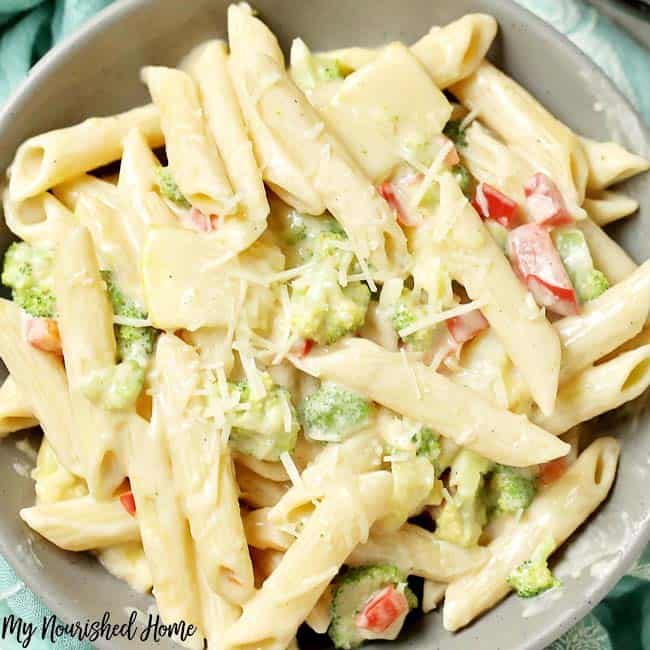 Easy Vegetable Alfredo Recipe