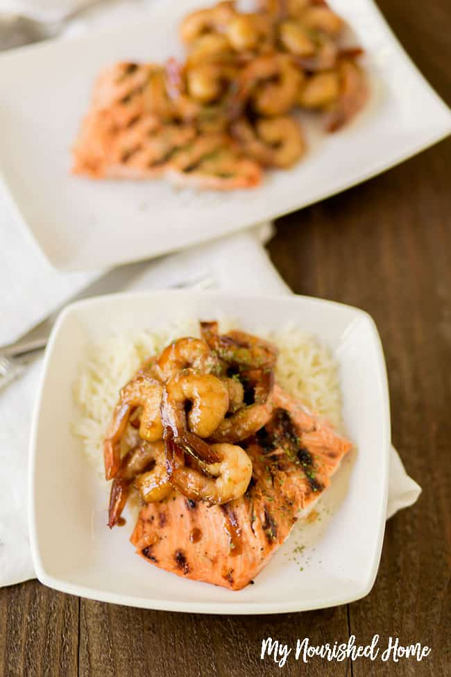 A quick shrimp and salmon recipe for the grill