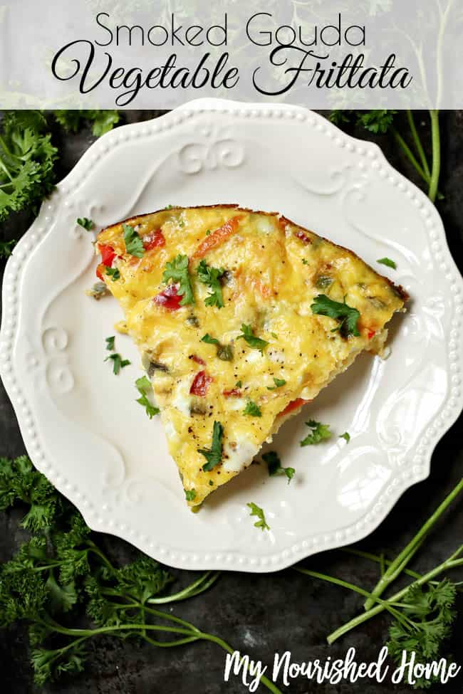 Smoked Gouda Vegetable Frittata Recipe from MyNourishedHome