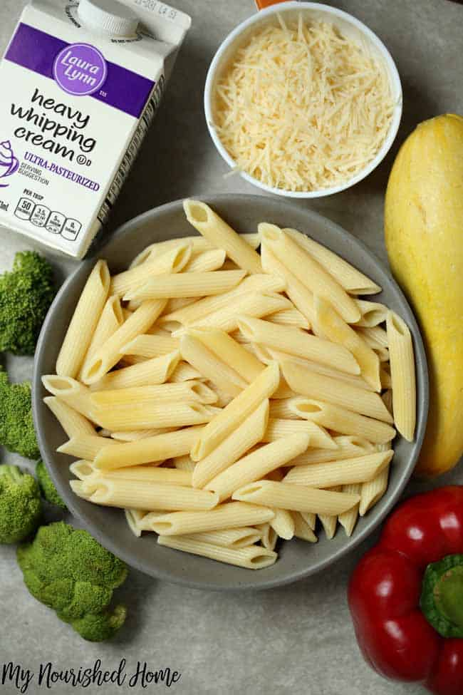 Vegetable Alfredo Recipe - MyNourishedHome