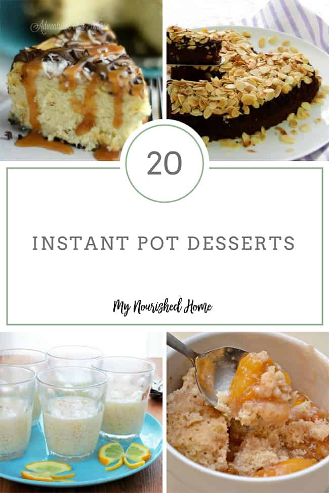 20 Easy Instant Pot Desserts